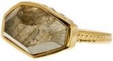 Melinda Maria Geo Labradorite Textured Band Ring - Size 8
