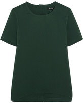Madewell Swingy Crepe Top - Emerald
