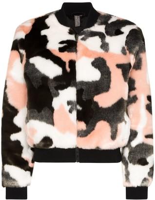Sweaty Betty Malabar camouflage bomber jacket