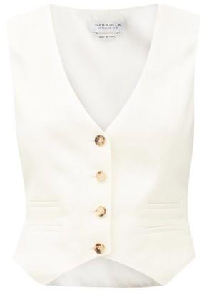 Gabriela Hearst Zelos Linen-twill Suit Waistcoat - Ivory