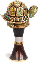 Jay Strongwater Evan Turtle Wine Stopper Stand