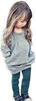 Balakie Kids Girls Casual Outfit, Long Sleeve T-shirt +Long Pants Set