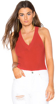 Autumn Cashmere Rib Sleeveless Halter Top in Red
