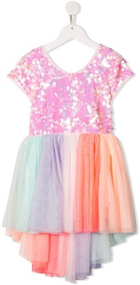 Billieblush Sequin Rainbow Tulle Dress