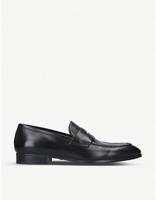 Santoni Simon leather penny loafer