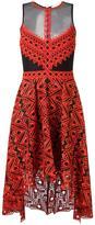 Jonathan Simkhai sheer panel asymmetric dress - women - Polyester/Spandex/Elastane/Silk - 4
