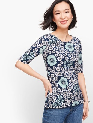 Talbots Scallop Tee - Floral