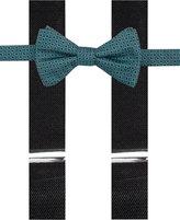 Alfani Men's Ludlow Geo Bow Tie & Suspender Set, Only at Macy's