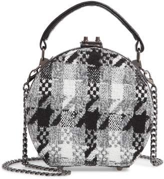 Sondra Roberts Tweed Canteen Crossbody Bag