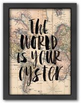 Americanflat ''The World is Your Oyster'' Map Framed Wall Art