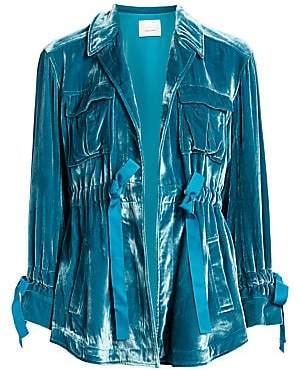 Cinq à Sept Women's Mathieu Velvet Cargo Jacket