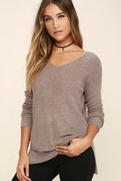 Fate Casual Friday Taupe Sweater
