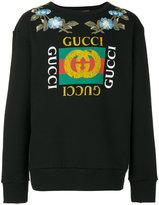 Gucci GG floral sweatshirt - men - Cotton - L