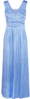 Sophia Kokosalaki Dysis Plissé-satin Maxi Dress - Blue