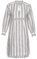 Sea Striped linen long-sleeved dress