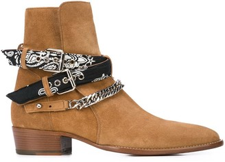 Amiri ankle chain straps boots