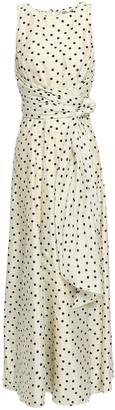 Diane von Furstenberg Open-back Printed Silk Maxi Dress