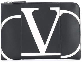 Valentino garavani leather document case