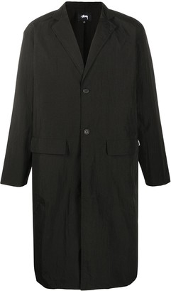 Stussy Single-Breasted Long-Length Coat