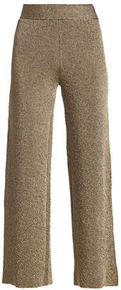 Herve Leger Metallic Flare Pants