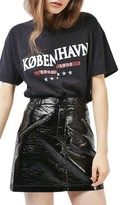 Topshop Women's Faux Leather Miniskirt