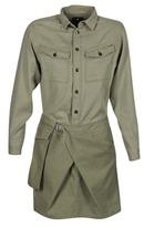 G Star ROVIC WRAP SHIRT DRESS L/S KAKI