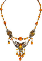 One Kings Lane Vintage Czech Topaz Glass Swag Necklace