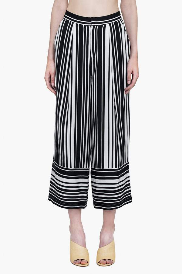 Genuine People High Rise Lightweight Striped Pants