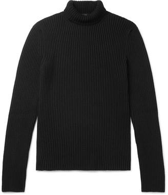 Balenciaga Slim-Fit Ribbed Cashmere-Blend Rollneck Sweater