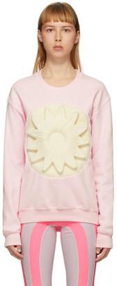 Paula Canovas Del Vas Pink Flower Embossed Sweatshirt