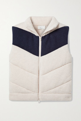 3.1 Phillip Lim - Two-tone Quilted Wool-blend Vest - Ecru