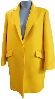 Tara Jarmon Yellow Wool Coats