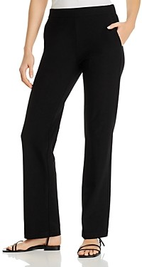 Eileen Fisher Petite System Straight-Leg Knit Pants