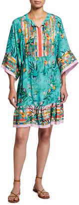 Johnny Was Plus Plus Size Taina Short Coverup Dress
