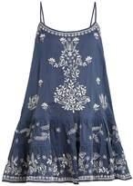 Juliet Dunn Sleeveless embroidered cotton kaftan