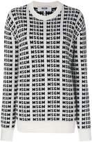 MSGM logo intarsia jumper