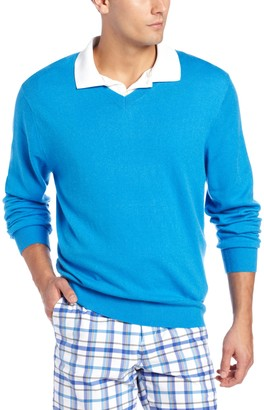 Cutter & Buck Men's Big-Tall Lake Union V-Neck Sweater