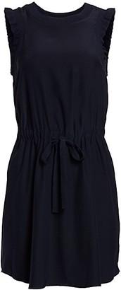 Cinq à Sept Lenore Drawstring Waist Silk Dress