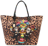 Dolce & Gabbana Beatrice leopard print tote - women - Cotton/Calf Leather - One Size
