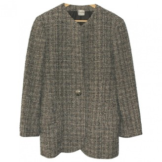 Krizia Grey Wool Coat for Women Vintage