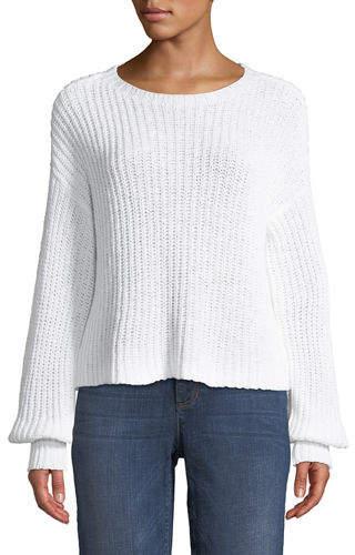 Petite Organic Cotton Round-Neck Sweater