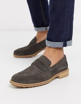 Silver Street leather loafer in grey