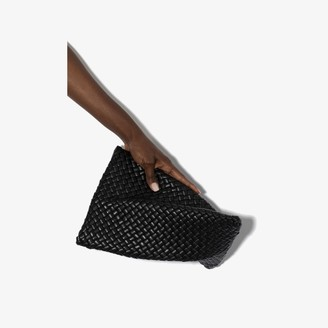 Bottega Veneta black Crisscross leather clutch bag