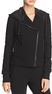 Blanc Noir Hooded French Terry Moto Jacket