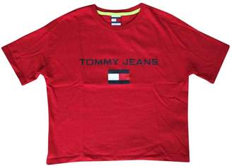 Tommy Jeans Red Cotton Tops