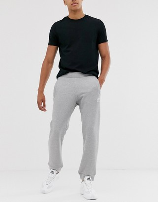 adidas logo joggers in grey