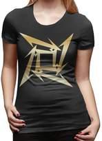 MJSBS Women's Metallica Star Gold Logo T-shirt