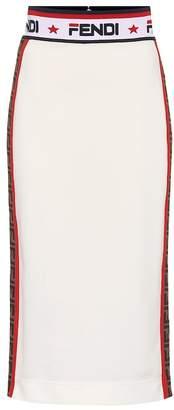 Fendi MANIA jersey pencil skirt