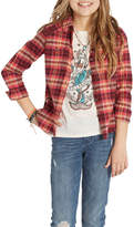 Billabong Desert Moons Plaid Flannel Shirt (Little Girls)