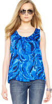 MICHAEL Michael Kors Watercolor-Print Top